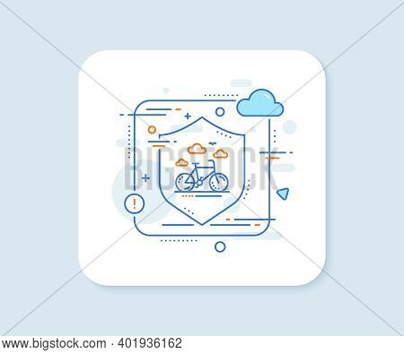 Bike Rental Line Icon. Abstract Vector Button. Bicycle Rent Sign. Hotel Service Symbol. Bike Rental