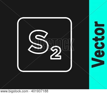 White Line Bingo Icon Isolated On Black Background. Lottery Tickets For American Bingo Game. Vector