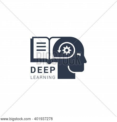 Vector Image Of Deep Learning Can Be Both Digital And Modern Methods Of Learning In The Form Of An I