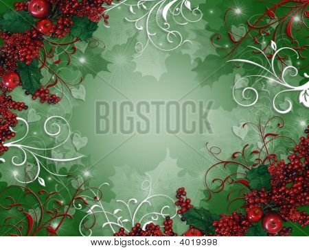 Christmas Background Holly Berries