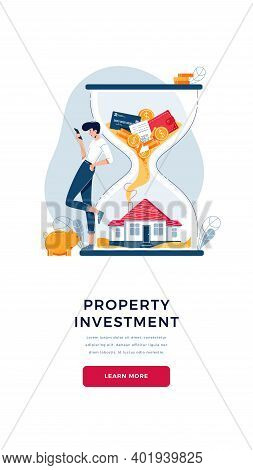 Property Investment Concept. Investor Awaits A Generating Passive Income From Long-term Investing. M