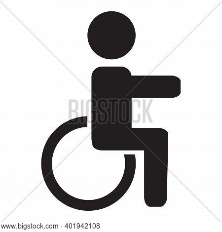 Wheelchair, Handicapped Or Accessibility Parking Or Access Sign Flat Blue Icon For Apps
