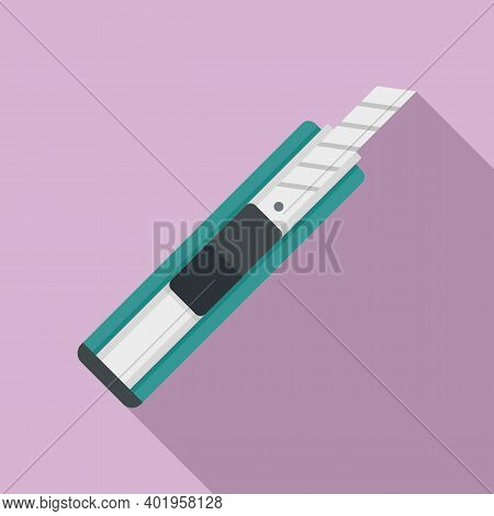 Cutter Office Icon. Flat Illustration Of Cutter Office Vector Icon For Web Design