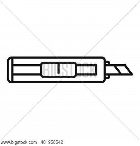 Cutter Office Icon. Outline Cutter Office Vector Icon For Web Design Isolated On White Background