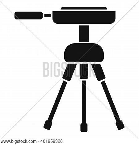 Video Camera Tripod Icon. Simple Illustration Of Video Camera Tripod Vector Icon For Web Design Isol