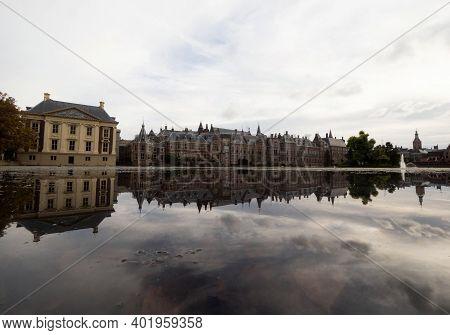 Binnenhof Inner Court Building Complex Political Centre Hofvijver Lake Pond The Hague Den Haag South