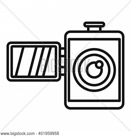 Home Video Camera Icon. Outline Home Video Camera Vector Icon For Web Design Isolated On White Backg