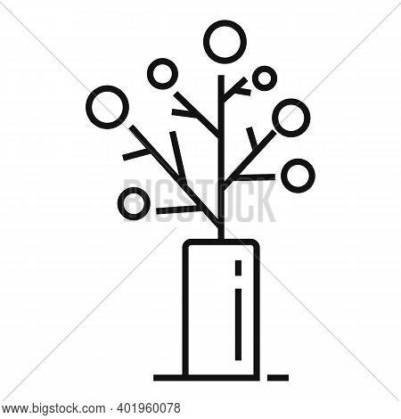 Landscape Designer Tree Icon. Outline Landscape Designer Tree Vector Icon For Web Design Isolated On