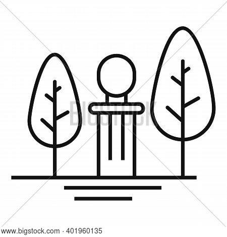 Park Landscape Design Icon. Outline Park Landscape Design Vector Icon For Web Design Isolated On Whi
