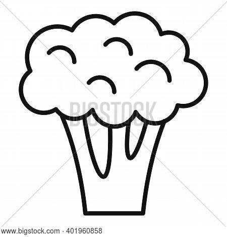 Garden Broccoli Icon. Outline Garden Broccoli Vector Icon For Web Design Isolated On White Backgroun