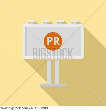 Pr Specialist Billboard Icon. Flat Illustration Of Pr Specialist Billboard Vector Icon For Web Desig