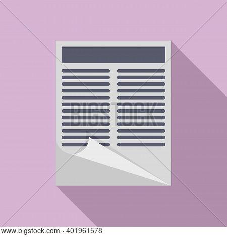 Pr Specialist Documents Icon. Flat Illustration Of Pr Specialist Documents Vector Icon For Web Desig