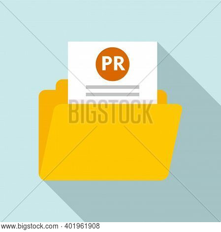 Pr Doc Folder Icon. Flat Illustration Of Pr Doc Folder Vector Icon For Web Design