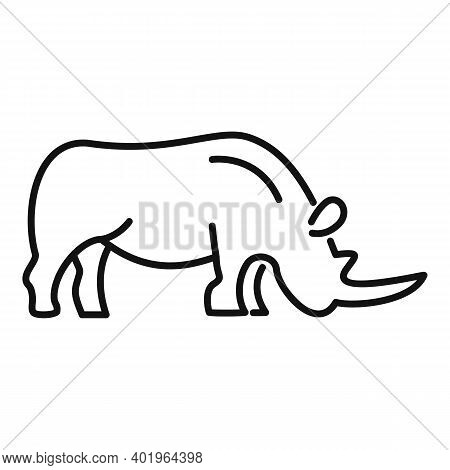 Rhino Baby Icon. Outline Rhino Baby Vector Icon For Web Design Isolated On White Background
