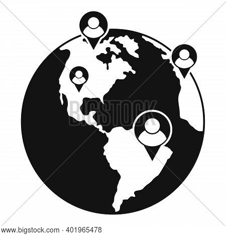 Global Sociology Icon. Simple Illustration Of Global Sociology Vector Icon For Web Design Isolated O