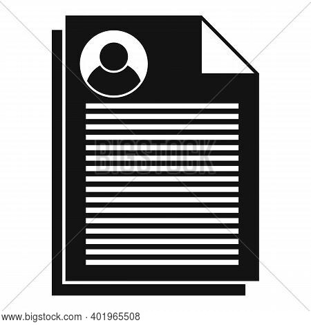 Sociology Papers Icon. Simple Illustration Of Sociology Papers Vector Icon For Web Design Isolated O