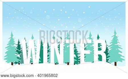 Winter Landscape Background Banner Design