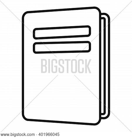 Sociology School Book Icon. Outline Sociology School Book Vector Icon For Web Design Isolated On Whi