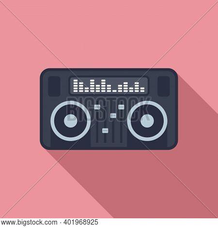 Dj Deck Icon. Flat Illustration Of Dj Deck Vector Icon For Web Design