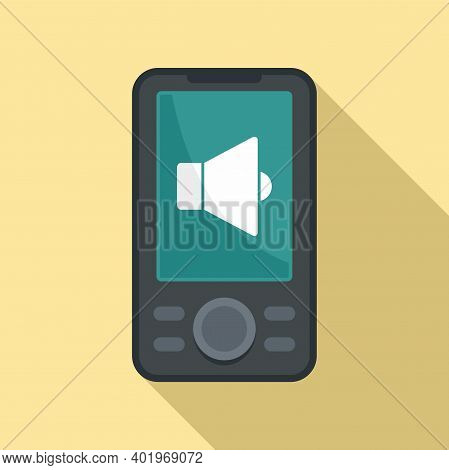 Music Player Icon. Flat Illustration Of Music Player Vector Icon For Web Design