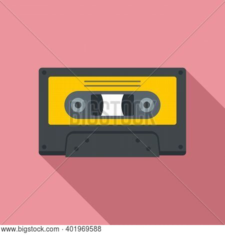 Music Cassette Icon. Flat Illustration Of Music Cassette Vector Icon For Web Design
