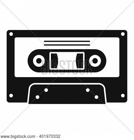 Music Cassette Icon. Simple Illustration Of Music Cassette Vector Icon For Web Design Isolated On Wh