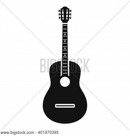 Acoustic Guitar Icon. Simple Illustration Of Acoustic Guitar Vector Icon For Web Design Isolated On