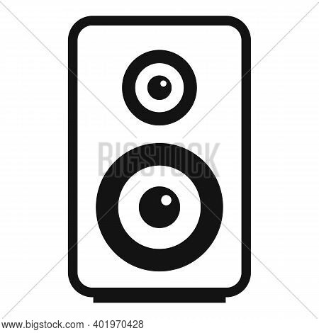 Acoustic Speaker Icon. Simple Illustration Of Acoustic Speaker Vector Icon For Web Design Isolated O