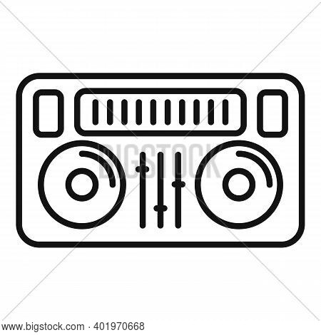 Dj Deck Icon. Outline Dj Deck Vector Icon For Web Design Isolated On White Background