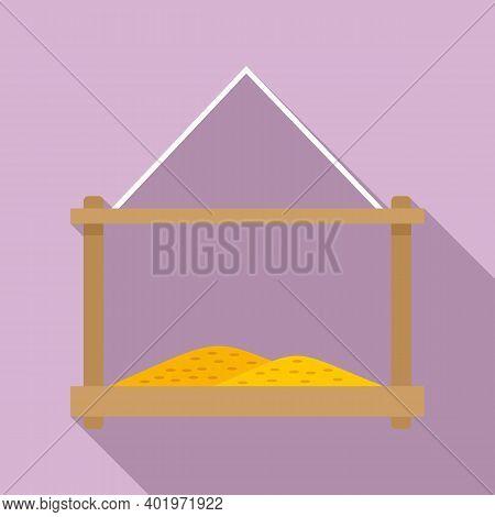 Grains Bird Feeders Icon. Flat Illustration Of Grains Bird Feeders Vector Icon For Web Design