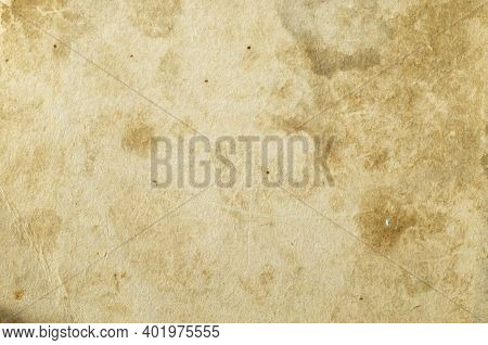 Aging Paper With Space For Text Or Image. Texture Wall From Paperboard Close-up