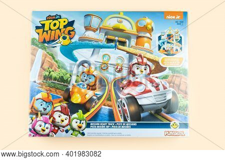 Bangkok, Thailand - January 5, 2021 : Cute Toy Of Top Wing Swift's Flash Wing Rescue In Set Suitable