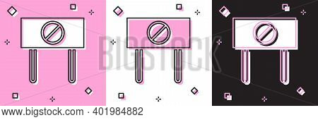 Set Protest Icon Isolated On Pink And White, Black Background. Meeting, Protester, Picket, Speech, B