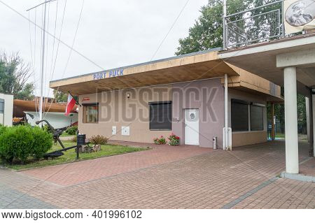 Puck, Poland - September 20, 2020: Office Of Puck Fish Harbour.