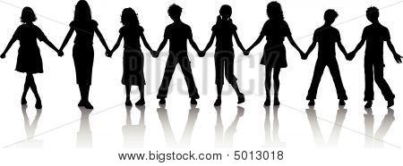 holding hände Kinder
