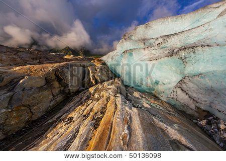 Svartisen Glacier in Norway poster