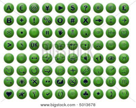 Green Shiny Web Button