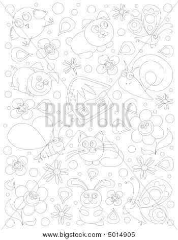 Children's Background Without Colour
