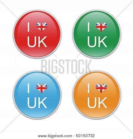 I Love UK icons