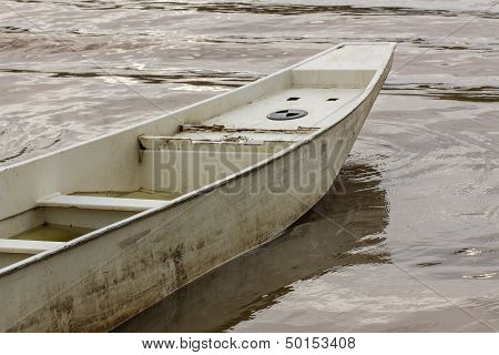 A Row Boat On Ping River In Chiangmai Thailand