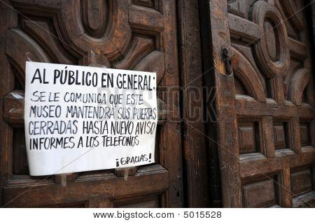 Mexico City Museum Closed
