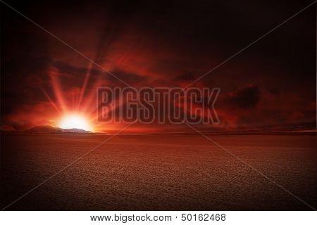 Red Sky Desert Sunset