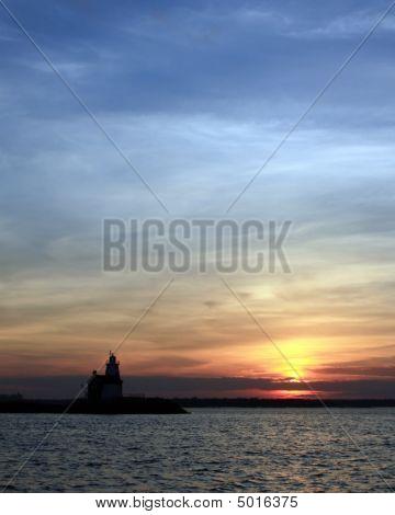 Execution Rocks Lighthouse At Dusk