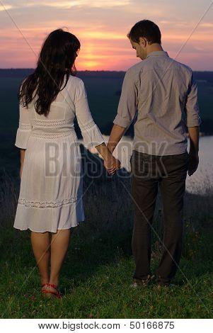 Sweethearts at sunset