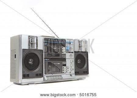 Vintage Boom Box Cassette Tape Player