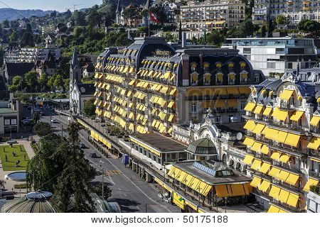 Fairmont Le Montreux Palace Hotel In The Daylight