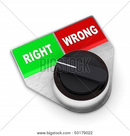 Right Vs Wrong Concept Switch