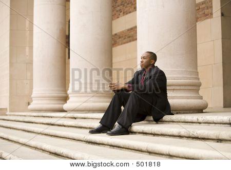 Sitting Business Man