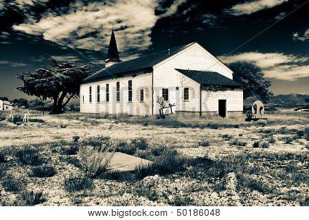 Abadoned East Garrison Chapel At Fort Ord