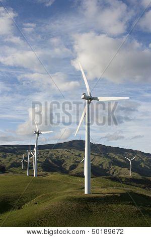 Te Apiti wind farm in New Zealand. poster